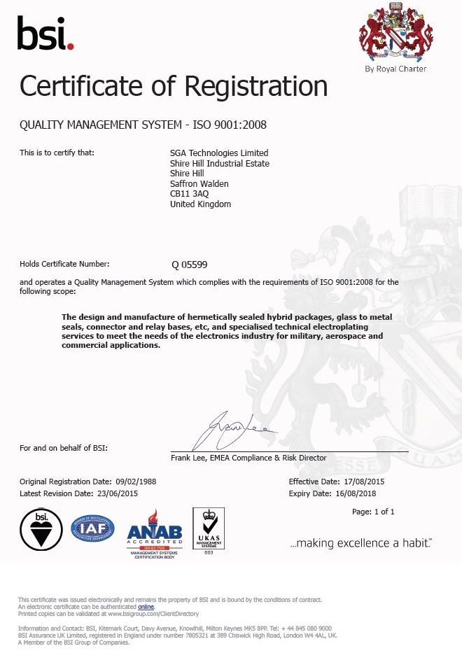 Renewal of ISO9001